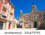 town hall building. san severo. ... | Shutterstock . vector #251675791