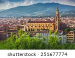 panorama of old florence and...   Shutterstock . vector #251677774