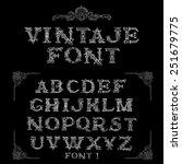 vintage font letters set   Shutterstock .eps vector #251679775