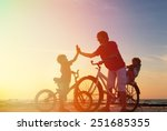 biker family silhouette  father ... | Shutterstock . vector #251685355
