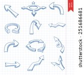 vector set of hand drawn arrows | Shutterstock .eps vector #251686681