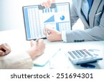 business people discussing the... | Shutterstock . vector #251694301