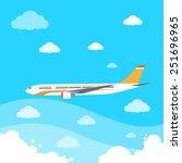 aircraft flat design style... | Shutterstock .eps vector #251696965