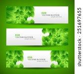 set banner ecology illustration ... | Shutterstock .eps vector #251697655