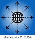 airplane globe design vector | Shutterstock .eps vector #25169830