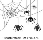 spiders weave a cobwebs.... | Shutterstock .eps vector #251703571