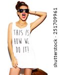 high fashion look.glamor... | Shutterstock . vector #251709961