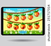 game level selection fruit ui...