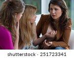three pretty friends having a... | Shutterstock . vector #251723341