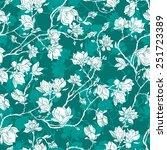 seamless floral vector pattern... | Shutterstock .eps vector #251723389