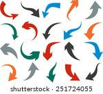 vector illustration of curved... | Shutterstock .eps vector #251724055