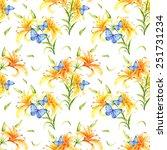 watercolor colorful handmade... | Shutterstock . vector #251731234