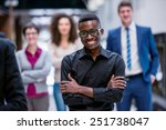 young multiethnic business... | Shutterstock . vector #251738047