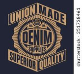 denim typography  t shirt... | Shutterstock .eps vector #251738461