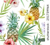 Tropical Pattern  Pineapple ...