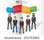 speech bubbles design on white... | Shutterstock .eps vector #251752801