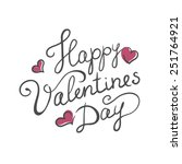 happy valentine's day handmade...   Shutterstock .eps vector #251764921