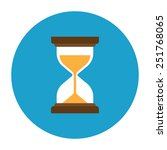 hourglass vector icon | Shutterstock .eps vector #251768065
