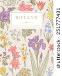 botany. vintage floral card.... | Shutterstock .eps vector #251777431