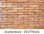 background of old vintage brick ... | Shutterstock . vector #251778121