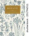 botany. vintage floral card.... | Shutterstock .eps vector #251796511