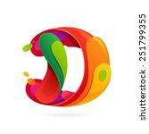 d letter volume logo  vector... | Shutterstock .eps vector #251799355