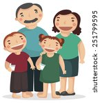 happy family | Shutterstock .eps vector #251799595