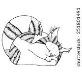 vector illustration of sleeping ... | Shutterstock .eps vector #251801491