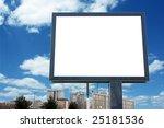blank billboard with cloudy sky ... | Shutterstock . vector #25181536