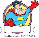 cartoon illustration of a super ... | Shutterstock .eps vector #251816611