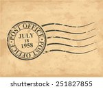 grungy postal stamp  vector... | Shutterstock .eps vector #251827855