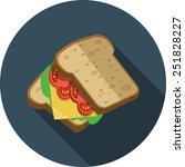 vector sandwich | Shutterstock .eps vector #251828227