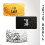 gold  silver and vip cards with ... | Shutterstock .eps vector #251828539