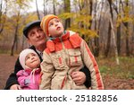 grandfather with grandsons in