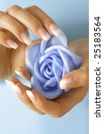 beautiful hands with french... | Shutterstock . vector #25183564