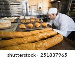 Baker Checking Freshly Baked...
