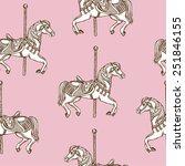 hand drawn carousel horse... | Shutterstock .eps vector #251846155