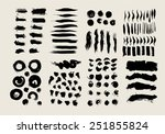 ink strokes  set | Shutterstock .eps vector #251855824