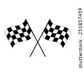 crossed black and white... | Shutterstock . vector #251857459