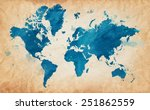 vector illustrated map of the... | Shutterstock .eps vector #251862559