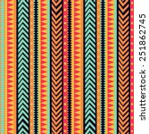 Vector Stripes Pattern. Tribal...