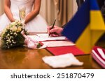 painting in the registry office | Shutterstock . vector #251870479