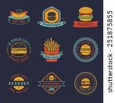 vector vintage fast food logo... | Shutterstock .eps vector #251875855