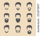 vector set of different men... | Shutterstock .eps vector #251875897