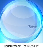 blue abstract round background  | Shutterstock .eps vector #251876149
