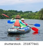summer vacation   back view of... | Shutterstock . vector #251877661