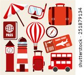 holiday travel design  vector... | Shutterstock .eps vector #251879134