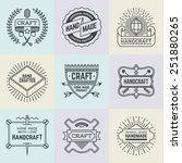 assorted retro design insignias ... | Shutterstock .eps vector #251880265