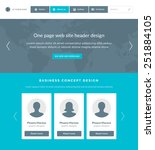 website template landing one...