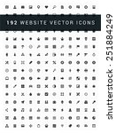 192 flat icons vector set for...